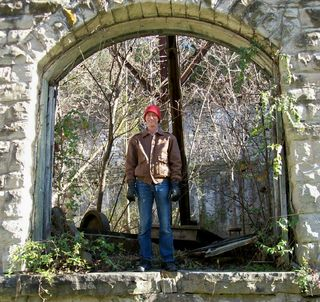 Joe steps through another portal, Eureka Springs, AR, 5 Dec. 2009