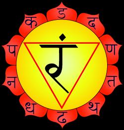 Manipura or Solar Plexus Chakra.