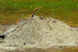 Burning Ash Pile