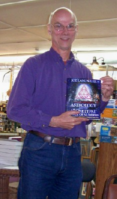 Joe Landwehr with his latest book, Astrology and the Archetypal Power of Numbers