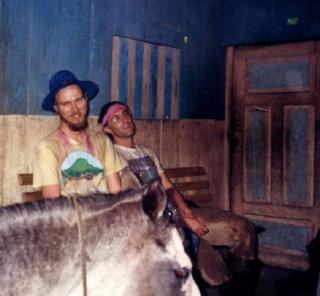 Joe and Ali Sharif after a long treck through the Ecuadorian rain forest.